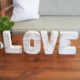 LOVE decorative letters